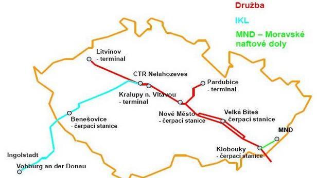 Ropovodní systém České republiky