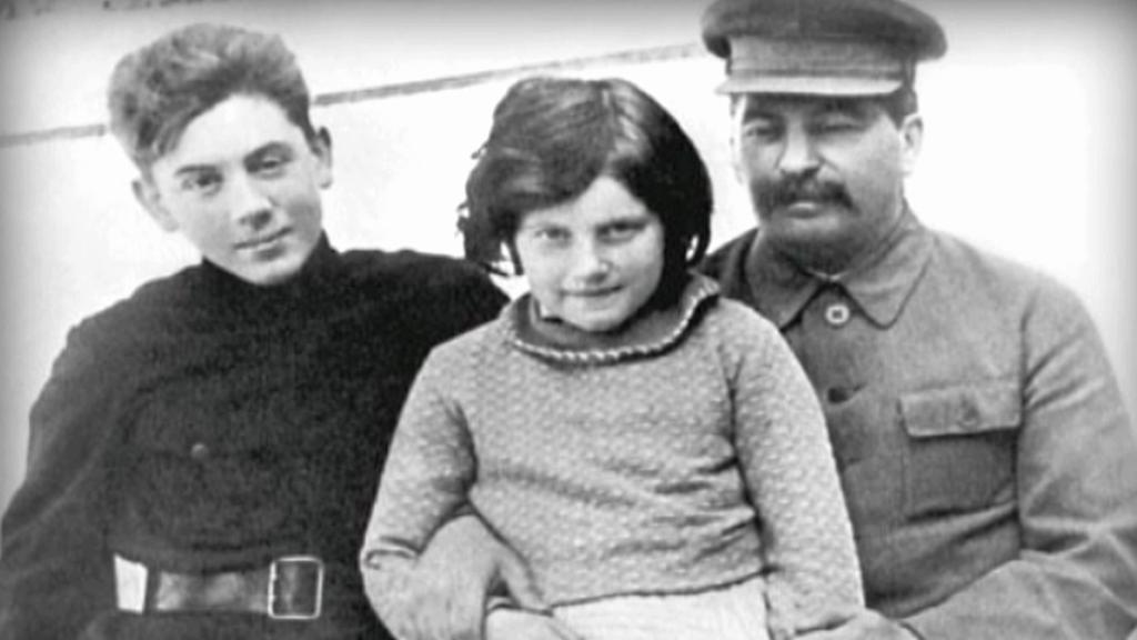 Josif Stalin s dcerou