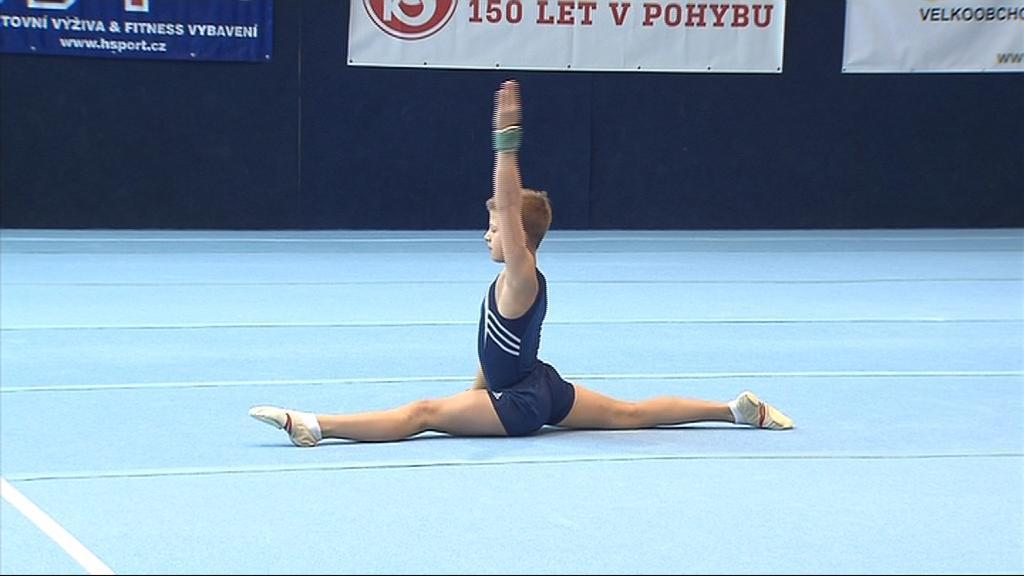 Martin Fiala při své akrobatické sestavě