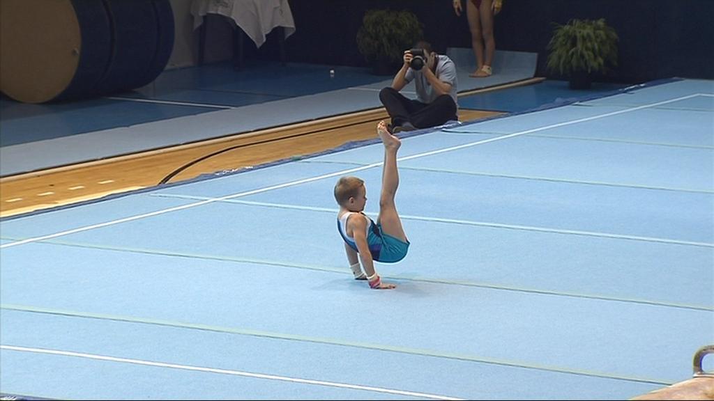 Vojtěch Šácha předvedl mezi dvanáctkou nejlepších párů akrobatickou sestavu