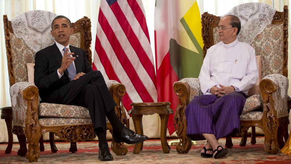 Barack Obama se setkal s barmským prezidentem Seinem