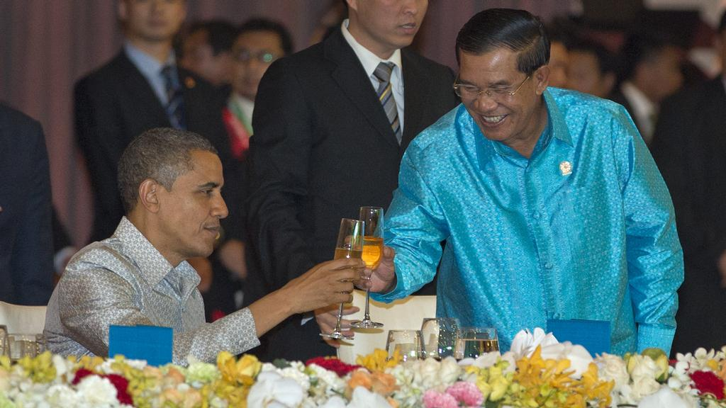 Obama na návštěvě Kambodže