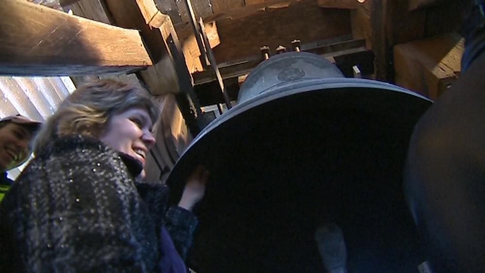 Návštěvníci se podívali také ke zvonům