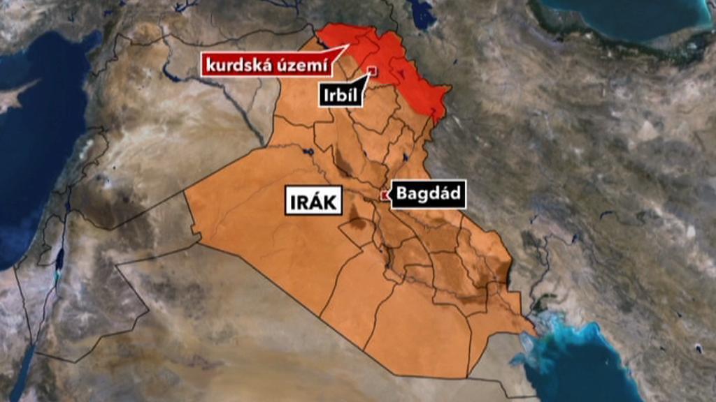 Kurdské území v Iráku