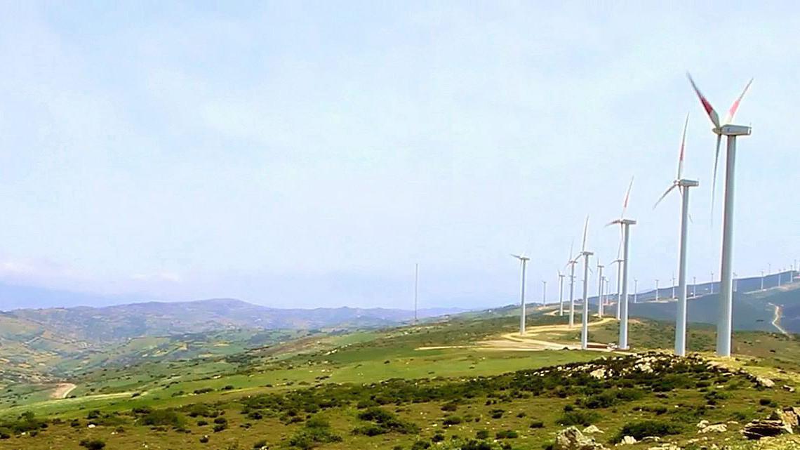 Větrný park v Maroku