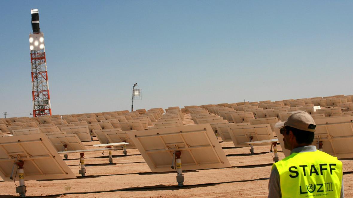 Solární park v Izraeli