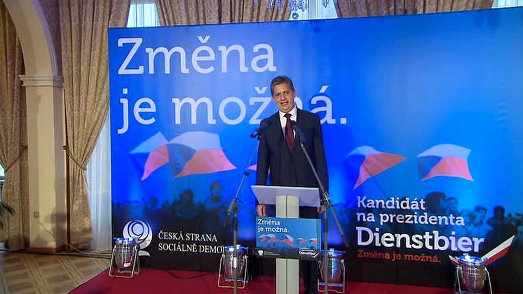 Prezidentský kandidát Jiří Dienstbier