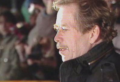 Václav Havel na Letné v listopadu 1989