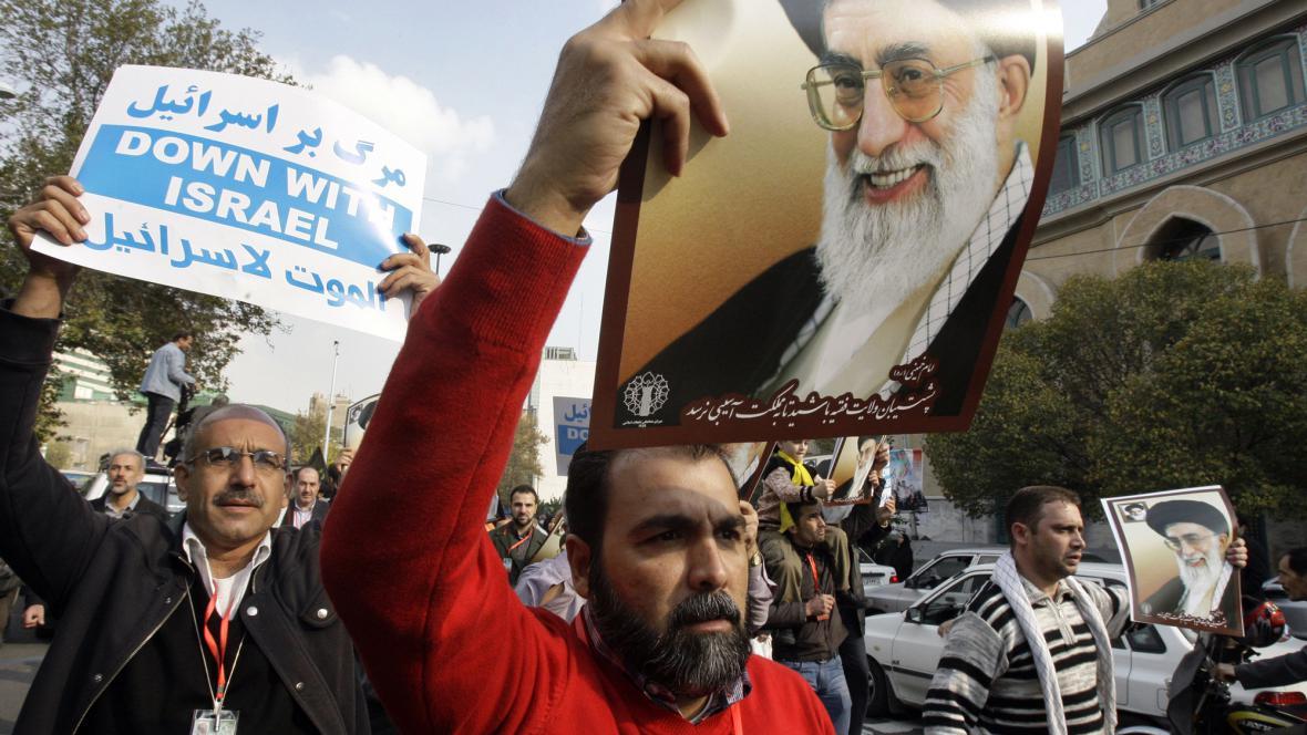 Protesty proti Izraeli v Íránu