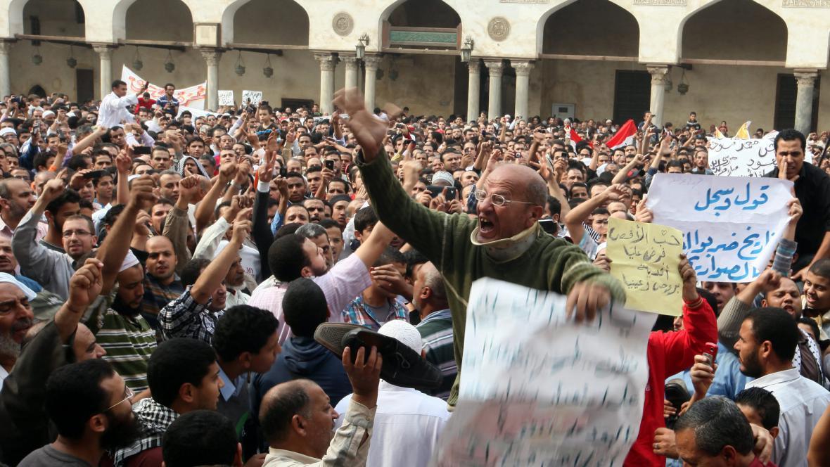 Protesty proti Izraeli v Egyptě