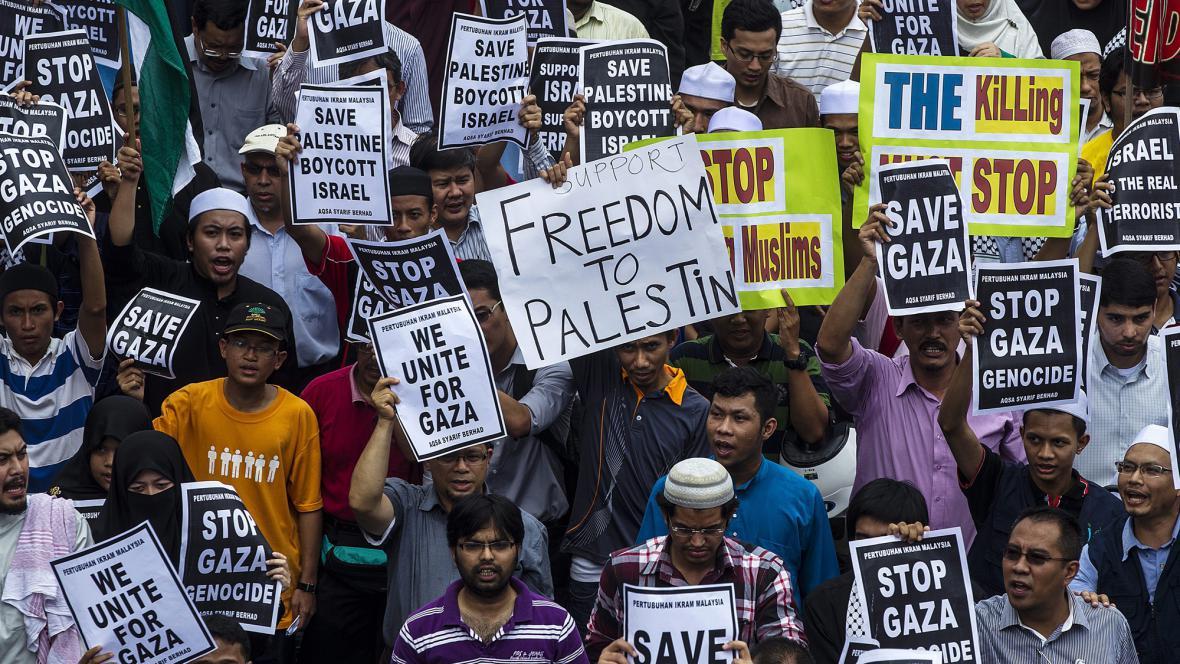 Protesty proti Izraeli v Malajsii