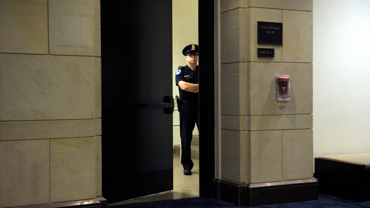 Vchod do budovy Kongresu USA