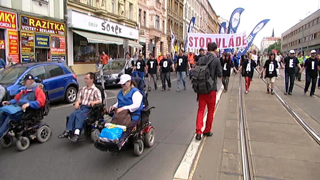 Protestní pochod proti vládě