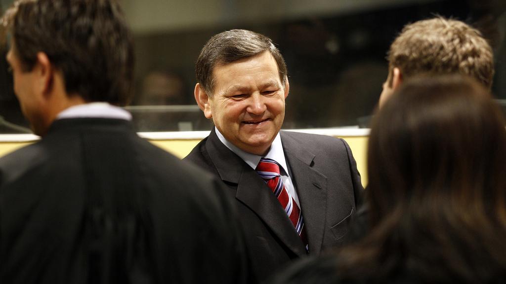 Mladen Markać před tribunálem v Haagu