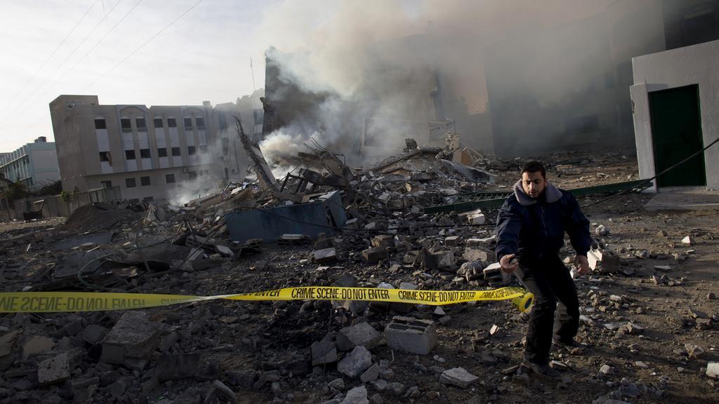 Následky ostřelování Gazy