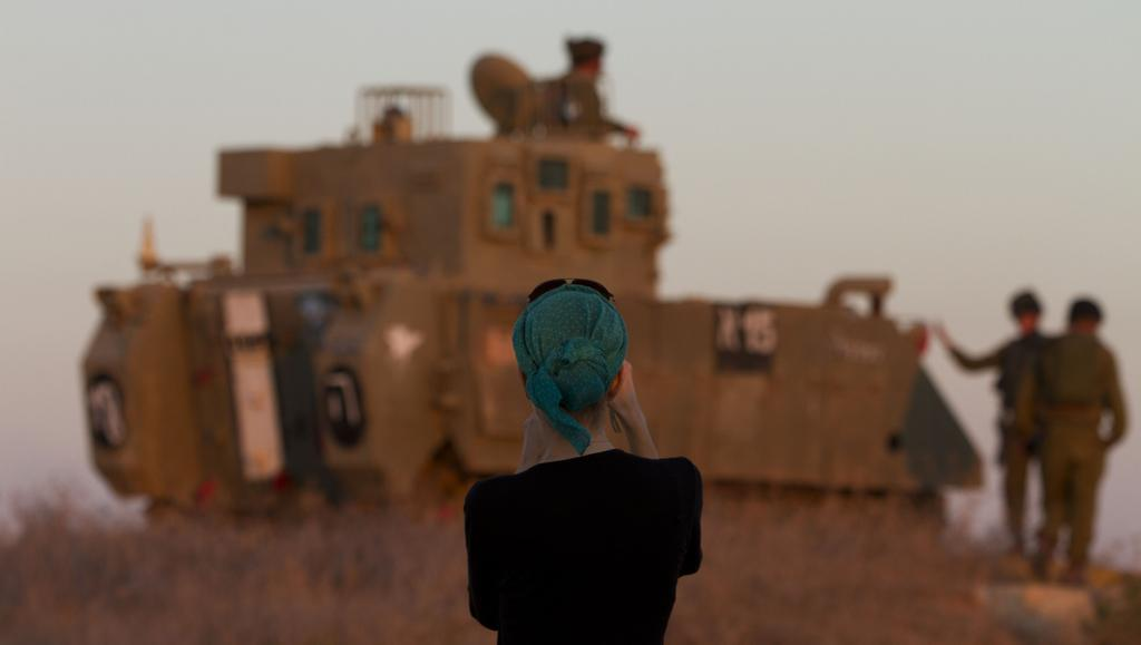 Tank na hranici Izraele a Gazy