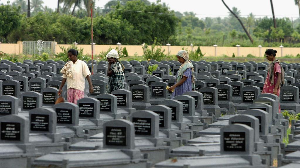 Hřbitov připomíná hrůzy konfliktu na Srí Lance