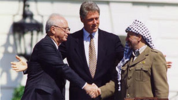 Podpis dohody o Blízkém východě v roce 1993