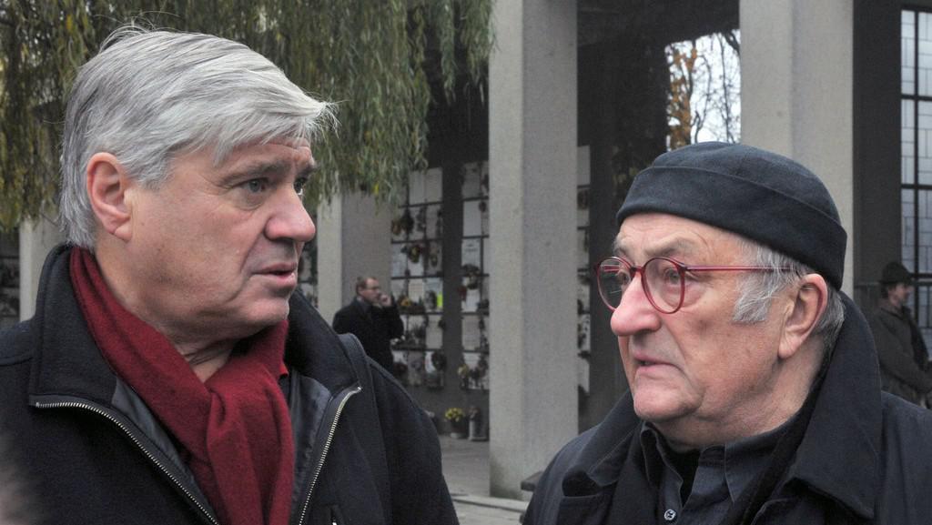 Poslední rozloučení s Vladimírem Jiránkem / Jiří Slíva a Ivan Steiger