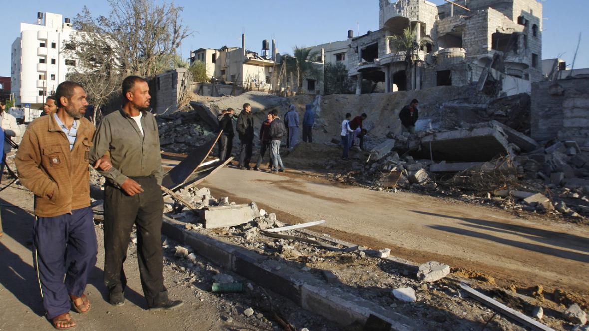 Výbuch po útoku Izraele na severu pásma Gazy
