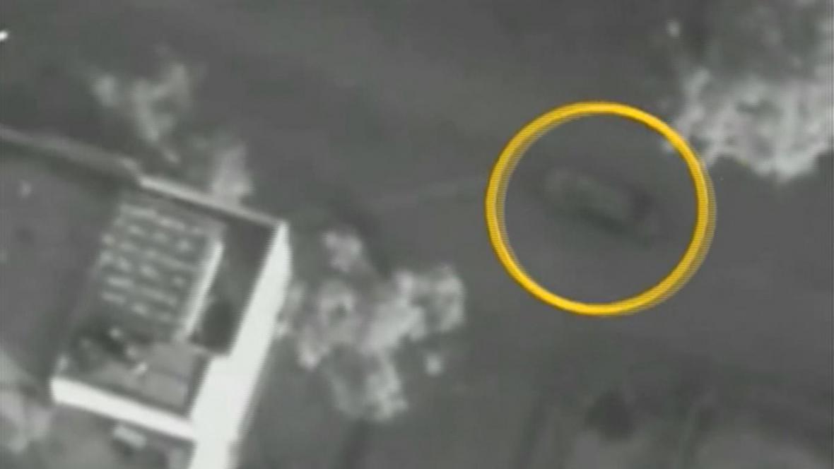 Zaměření Džabárího auta krátce před izraelským útokem