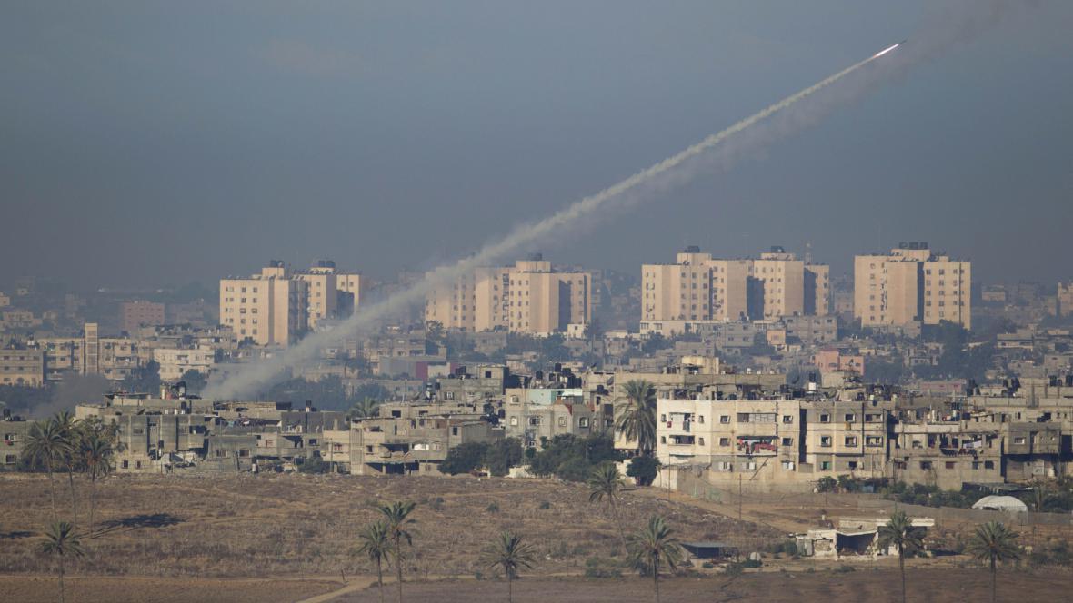 Raketa vypálená z pásma Gazy na Izrael
