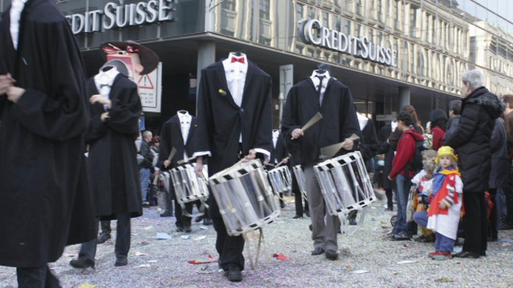 Satirický karneval ve švýcarské Basileji