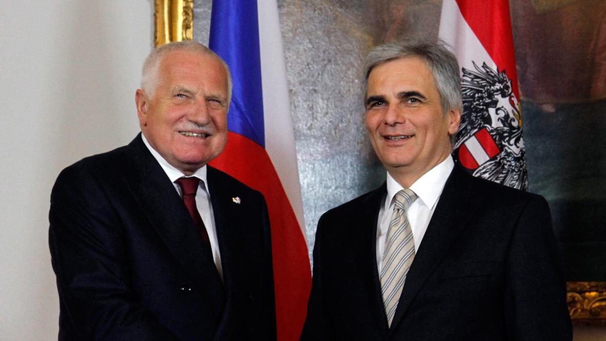 Václav Klaus a Werner Faymann
