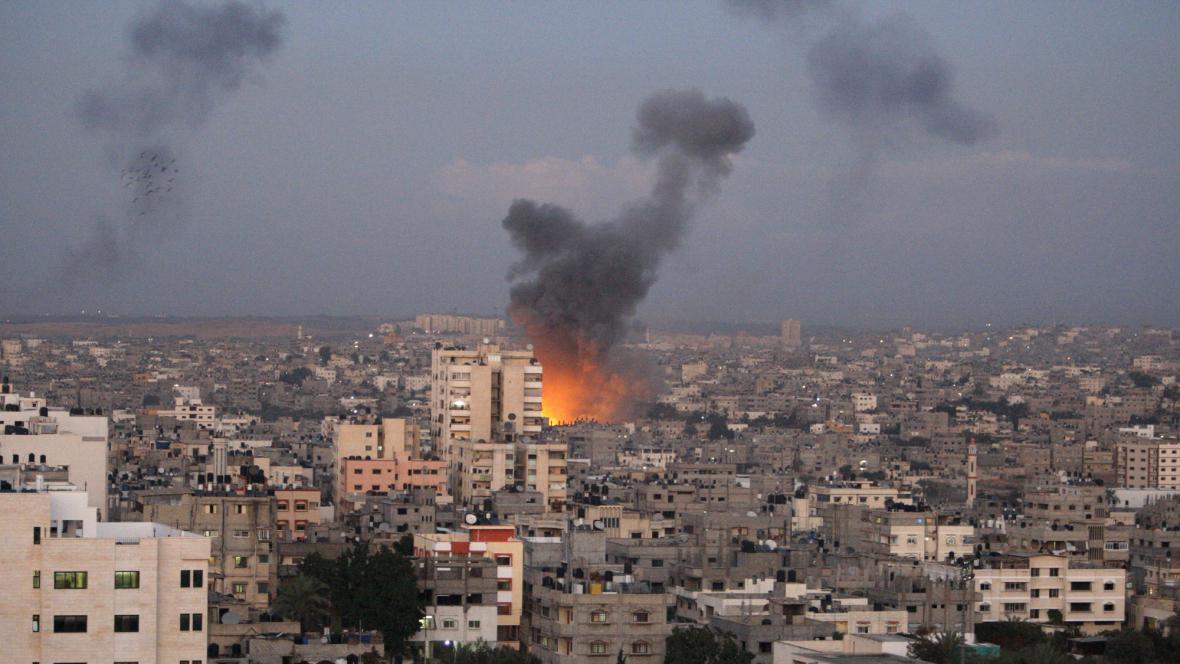 Izrael útočí na pásmo Gazy