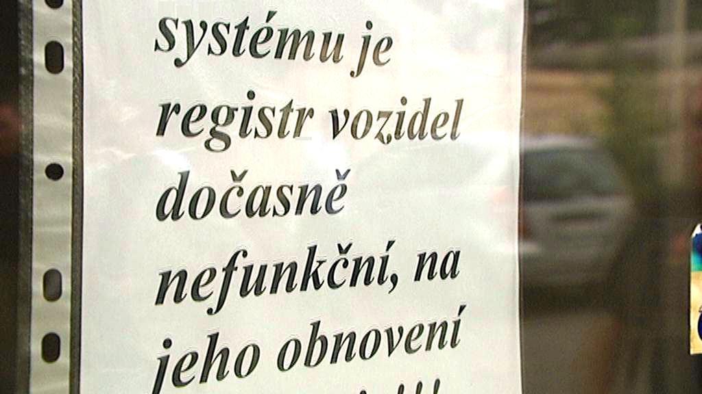 Problémy s registrem vozidel