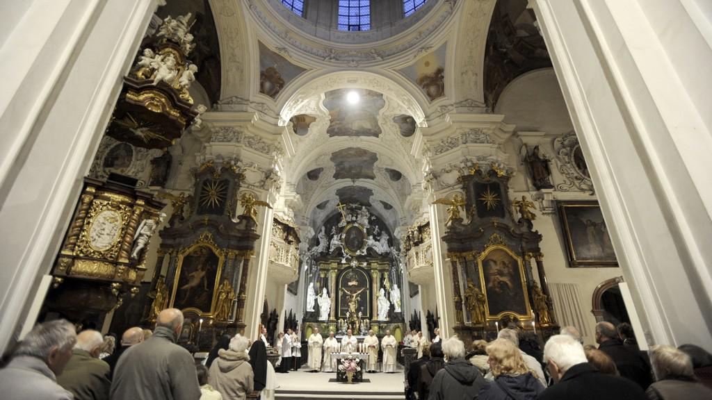 Mše v kostele Narození Panny Marie