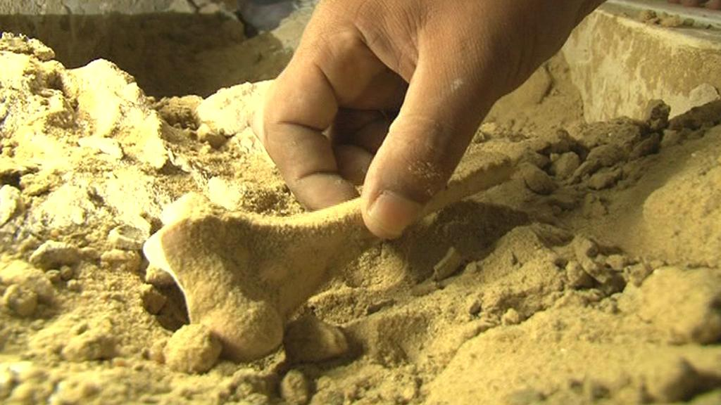 Archeologové prozkoumávají nalezené ostatky