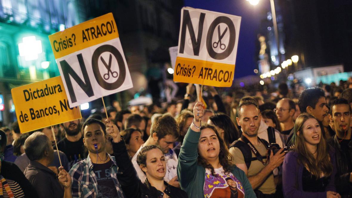 Protesty v Madridu