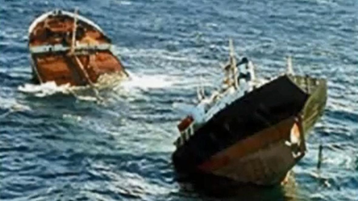 Rozlomený tanker Prestige
