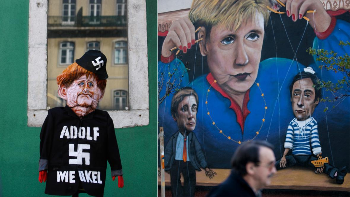 Portugalci protestují proti návštěvě Angely Merkelové