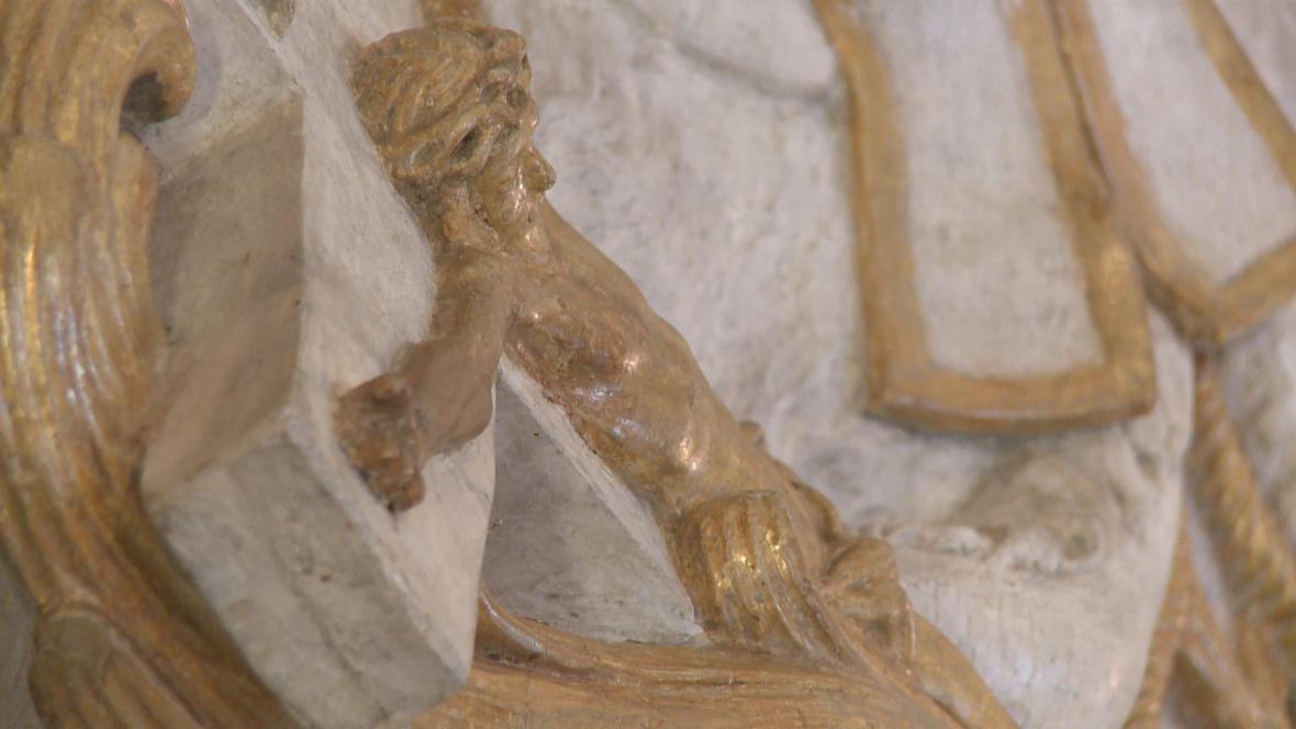 Ignác František Platzer / Sv. Jan Nepomucký (detail)