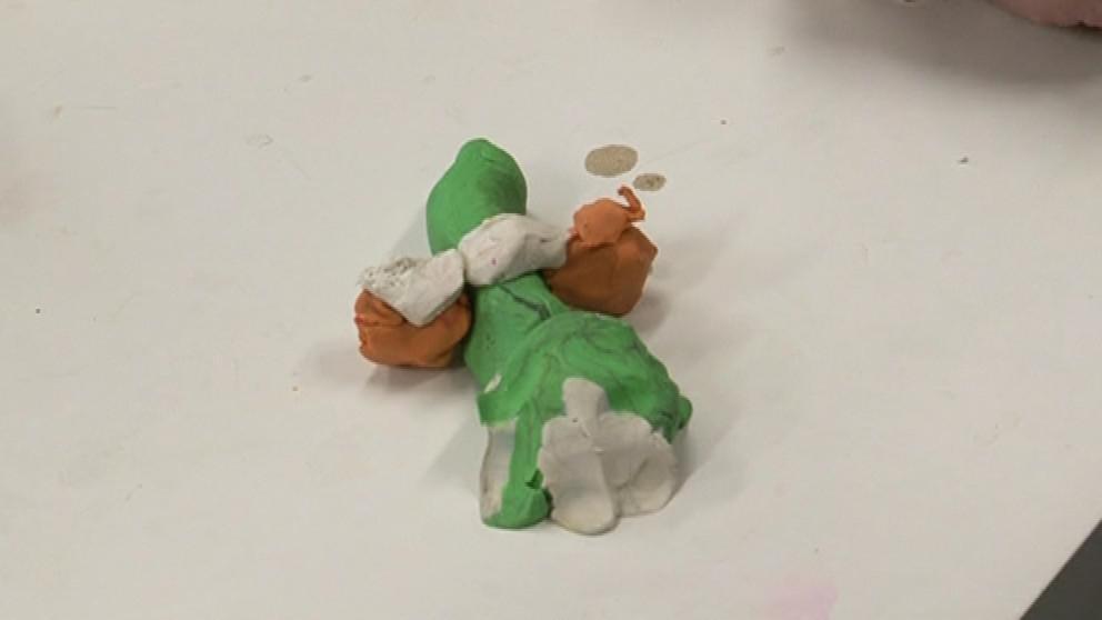 Žížalák vyrobený jedním z dětí