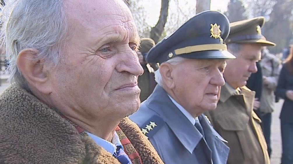 Vzpomínky se zúčastnili i veteráni z druhé světové války
