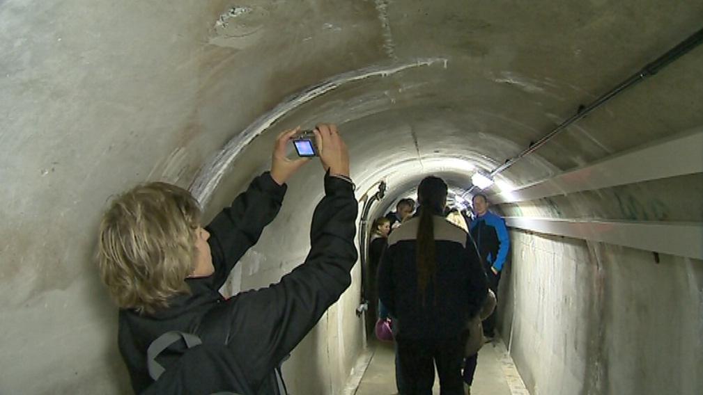 Kontrolní štola je dlouhá 140 metrů