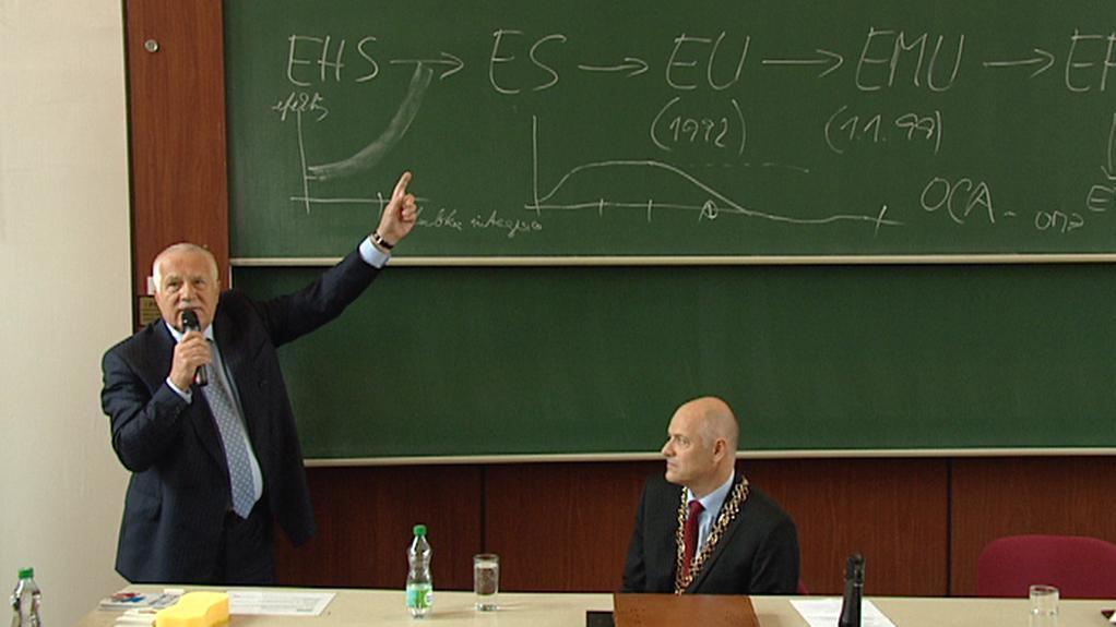 Václav Klaus a Karel Melzoch