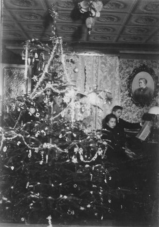 Vánoce - Koštický mlýn 1900