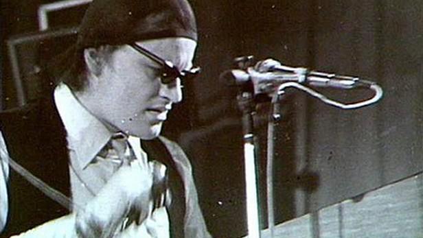 Michael Kocáb při koncertu Pražského výběru (1982)
