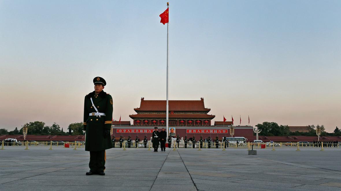 Sjezd čínských komunistů provázejí přísná bezpečnostní opatření