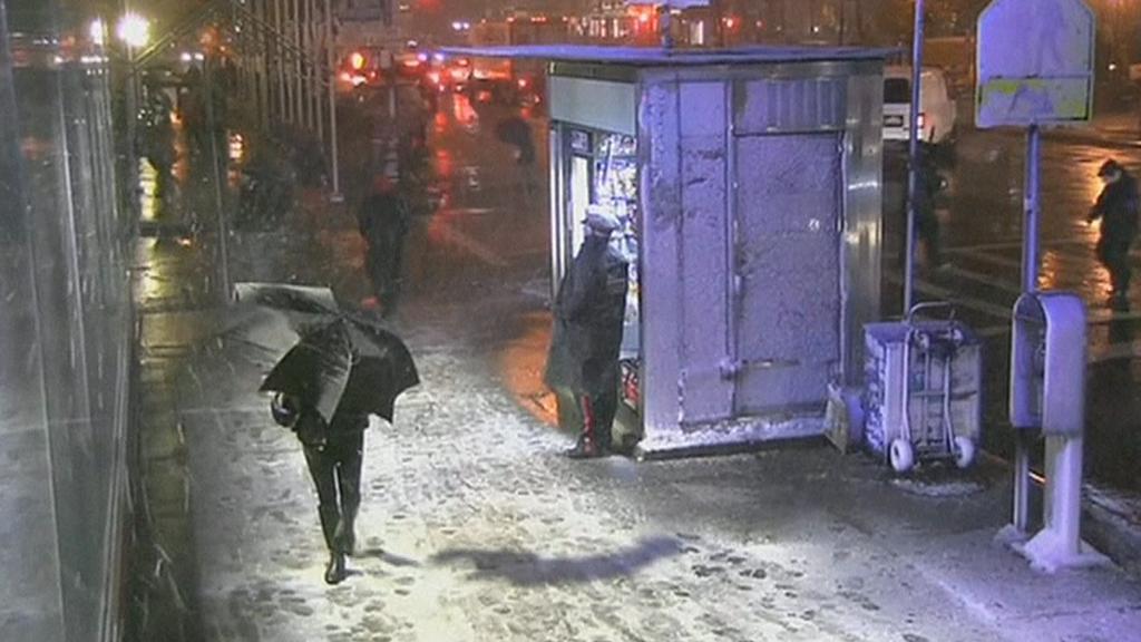 New York čelí další bouři - tentokrát sněhové