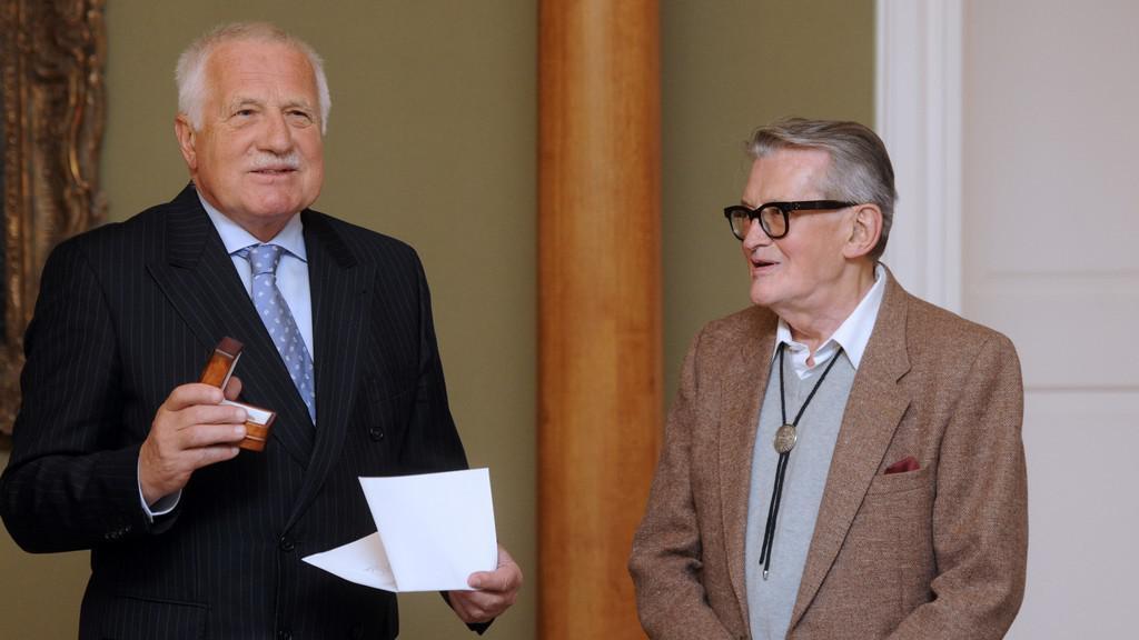 Václav Klaus a Vojtěch Jasný