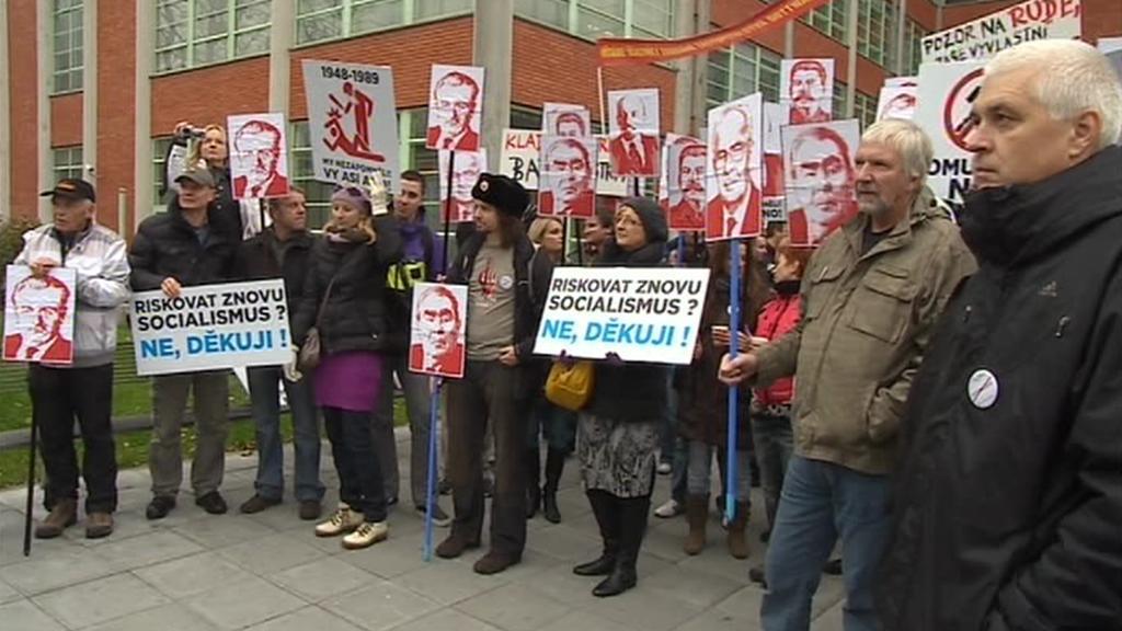 Protikomunistická demonstrace ve Zlíně