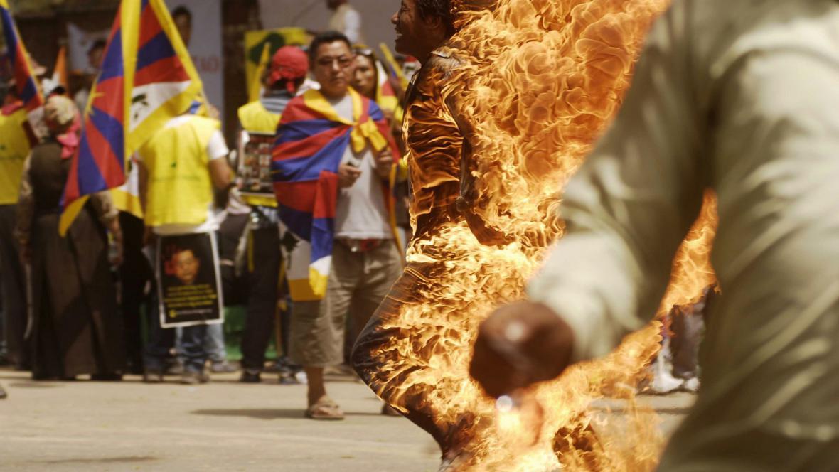 Sebeupálení na podporu Tibetu