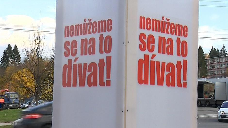 Demonstrace odpůrců koalice ve Zlínském kraji