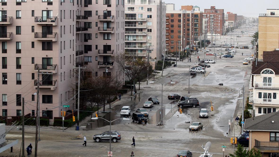 Ulice New Yorku po hurikánu Sandy