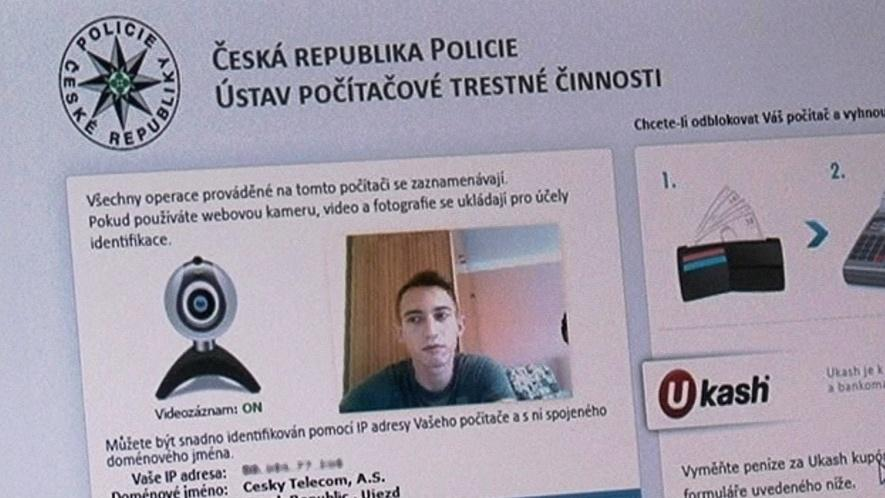 Závadný program se tváří jako seriózní zpráva od Policie ČR